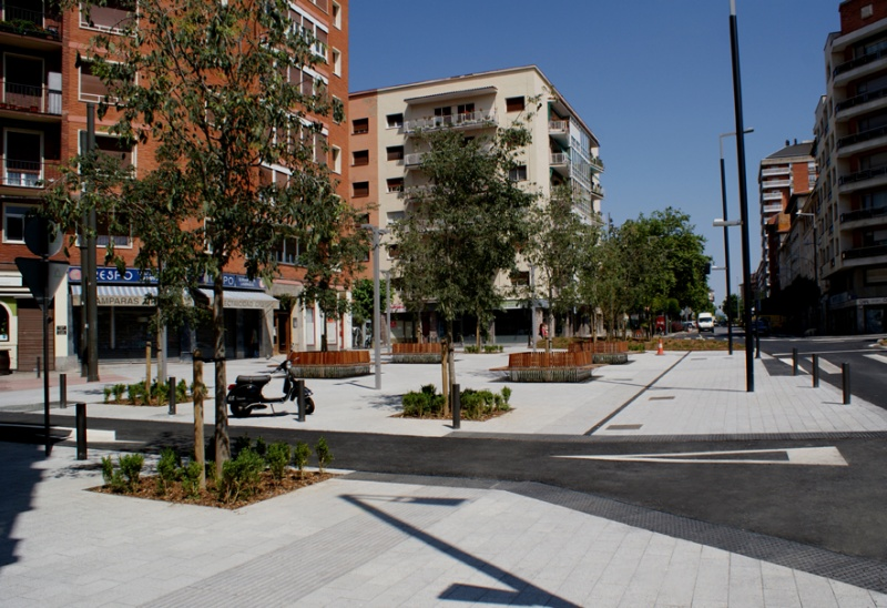 Plaza Green Capital, en Vitoria (Álava)