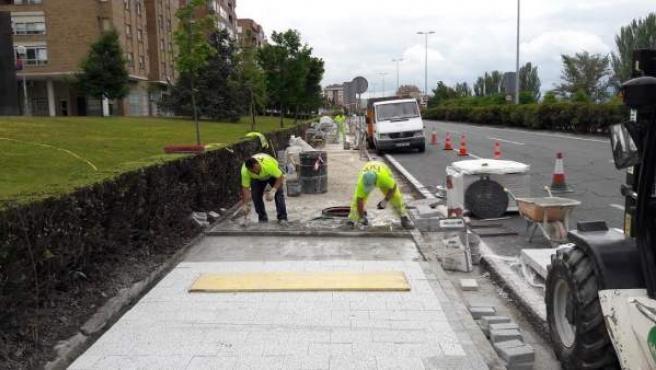 20 Minutos: Instalado En Pamplona Un Pavimento Que Reduce La Contaminación