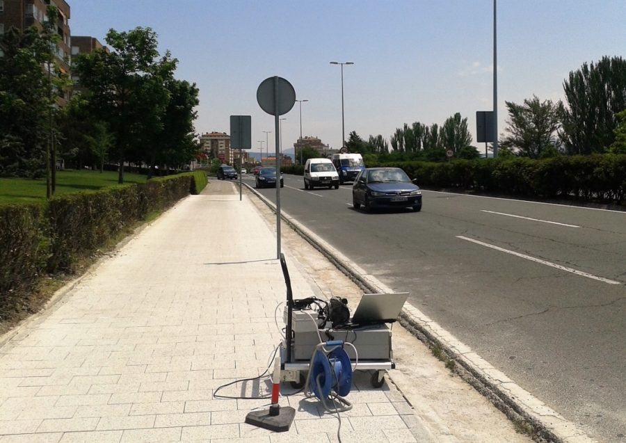 Navarra Capital: Una Innovación «made In Tudela» Permite A Pamplona Estrenar Carril Bici Descontaminante